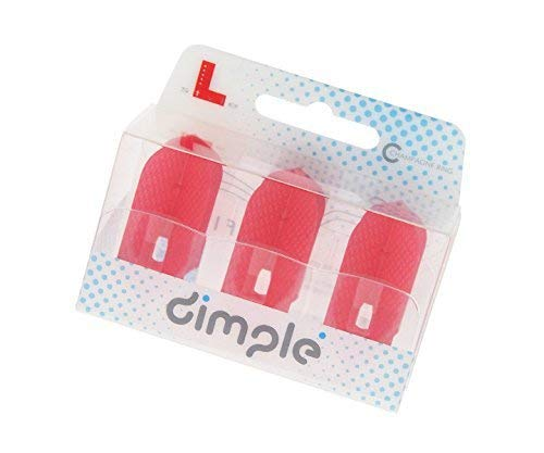 LSTYLE Dart Flights: L6 PRO Slim - Dimple Texture - Red
