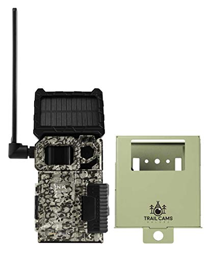 SPYPOINT Link-Micro-S-LTE Solar Cellular Trail Camera with LIT-10 Battery and Security Steel Case (Link-Micro-S-LTE (AT&T & USA Nationwide))