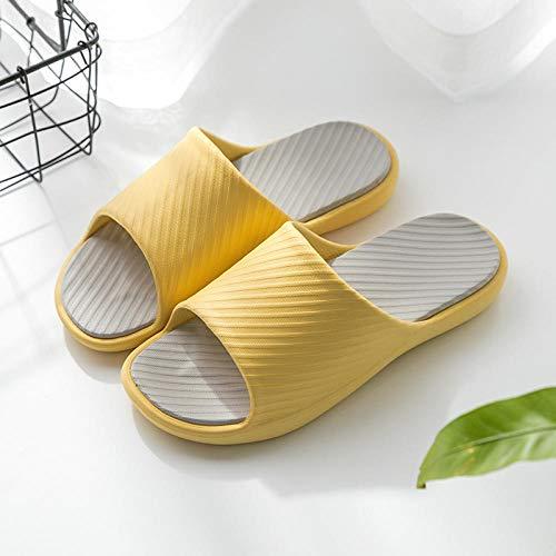 HUSHUI Chanclas Zapatos de Playa y Piscina,Baño Zapatillas Antideslizantes de baño, Pareja Sandalias de Fondo Suave-Amarillo_37-38,Mujer Verano Baño Antideslizante Chanclas