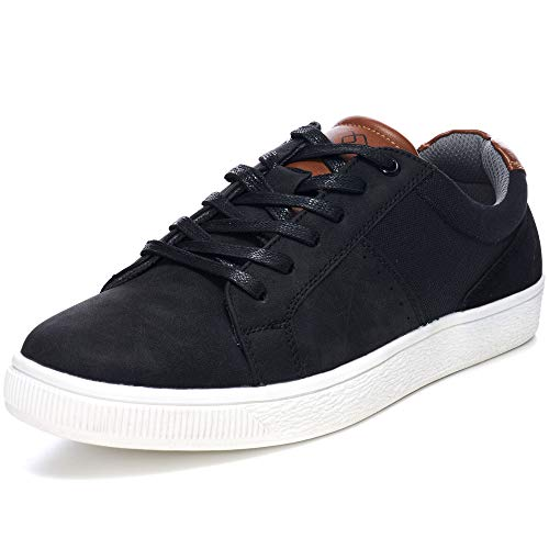 Alpine Swiss Ken Mens Low Top Fashion Sneakers Casual Lace Up Tennis Shoes BLK US 10