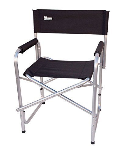 Earth Extra Heavy Duty Folding Short Director's Chair w/Extra Heavy-Duty, Steel Reinforced Frame - Foam Arm Rests for Comfort