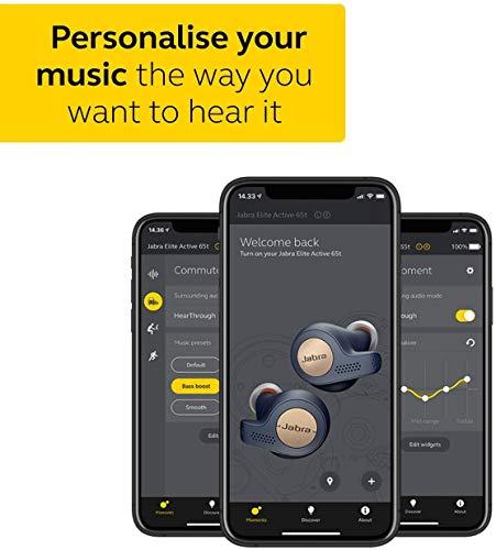 Jabra Elite Active 65t Alexa Enabled True Wireless Sports Earbuds, 15 Hours Battery, Titanium Black, Designed in Denmark