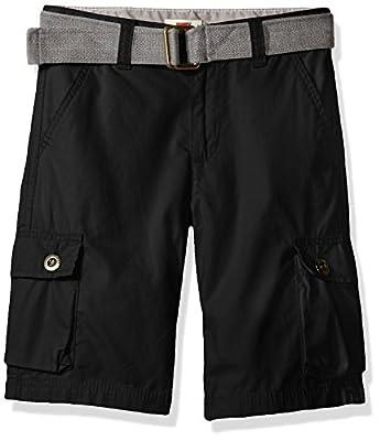 Levi's Boys' Big Cargo Shorts, Black, 14
