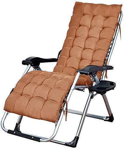 DJPP Liegestuhl, Gartenstühle Mit Sonnenliege Klappstühle Im Freien Liegestühle Mit Gartenterrasse, Tragbare Sonnenliege Zero Gravity Chair Multifunktionsstuhl, Schwarz,Brown,Brown