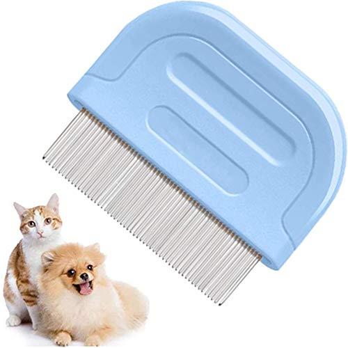 ZONSUSE Peine para pulgas Gato, Peine Antipulga Perros y Gatos,Perros, Conejos, eficaz contra pulgas, liendres, mordeduras plagas, garrapatas, pulgas, ectoparásitos (Peine de Pulgas)