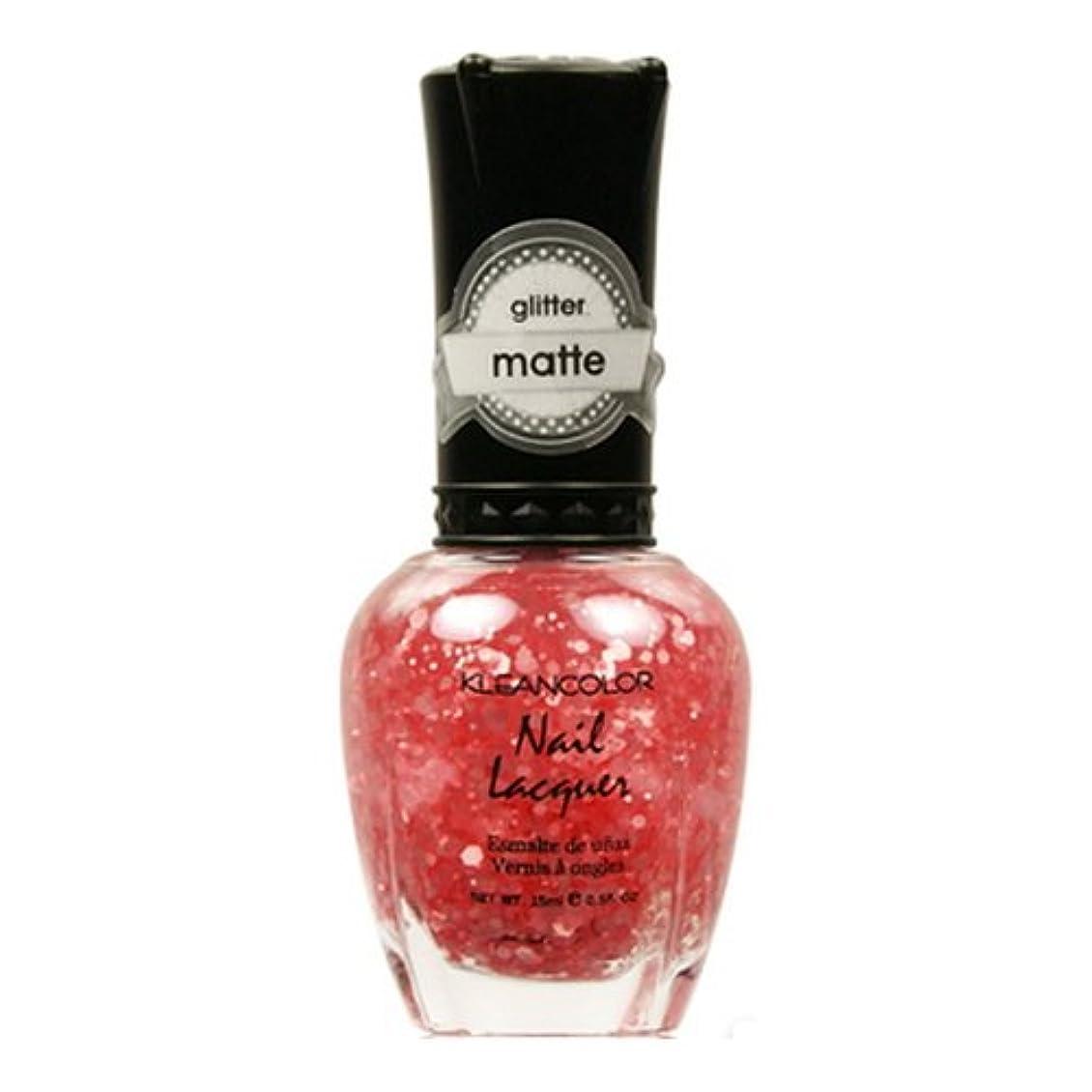 聖なる根絶する破滅的なKLEANCOLOR Glitter Matte Nail Lacquer - Blush Pink (並行輸入品)