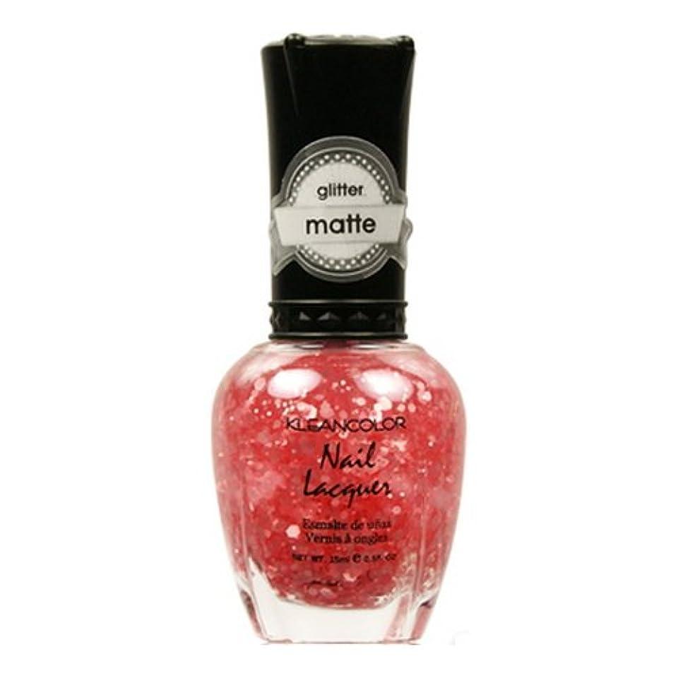 のスコアが欲しい距離(3 Pack) KLEANCOLOR Glitter Matte Nail Lacquer - Blush Pink (並行輸入品)