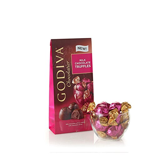 Godiva Chocolatier Wrapped Chocolate Truffles Bulk Gift Case, Milk Pecan Caramel Sundae