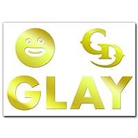 絵柄だけ残る ステッカー M 「GLAY」 金 032G