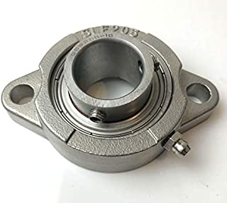 BEARING, 1in DIA,2 HOLE FLANGE STAINLESS