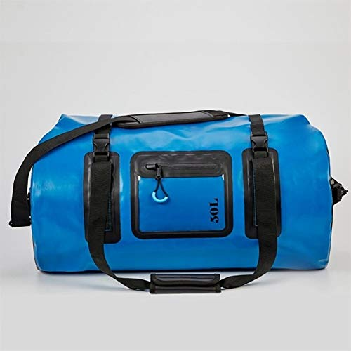Waterproof Duffle Dry Bags 20L 50L 70L 120L with a Tighter Roll-down Top Pocket for Kayaking Camping Boating Bicycle Motorcycle (Color : 50L BLUE)