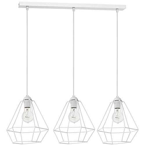 Alma 3 Plafonnier Lampe suspension Lampe suspension Lumière pendante Blanc