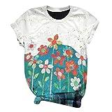 Kobay Plus Size Femmes À Manches Courtes 3D Imprimé Animal O-Neck Tops Tee T-Shirt Blouse