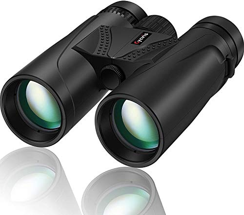 10x42 Binoculars for Adult - Cycvis Bird Watching Binoculars, Compact Binoculars for Hunting & Bird Watching, Waterproof Binoculars with Superior HD Binoculars with Smartphone Holder, Grey