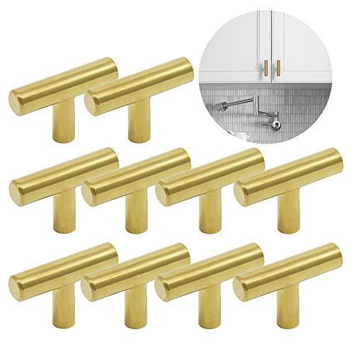 Ziyero 10 piezas Tirador de cocina en forma de T Tirador de barra con un orificio para puerta Se puede utilizar en dormitorios, baños, salas de estar, habitaciones infantiles, salas de estudio, etc