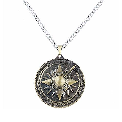 lureme Juego de Tronos Inspirado Casa Nymeros Martell Collar-Bronce Antiguo (nl005379-2)