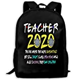 NiYoung Travel Laptop Backpack Fashion Lightweight Fits 15in Laptop Large Capacity (Teacher Class of 2020)