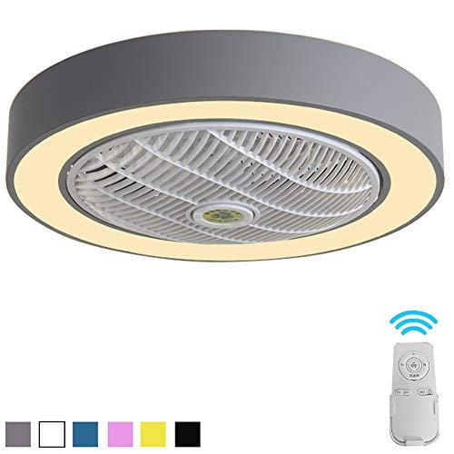 CDDQ Kinderzimmer Deckenventilator mit Beleuchtung 59cm/52cm,mit 3 Plastik Flügeln,Leise & Energiespar,3-Farb-Temperaturschalter,36W/40W