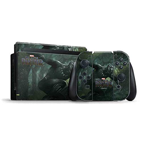 Skinit Decal Gaming Skin Compatible with Nintendo Switch Bundle - Officially Licensed Marvel/Disney Black Panther in Action Design