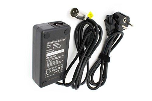 vhbw 220V Netzteil Ladegerät Ladekabel 60W für e-Bike, Pedelec, Elektrofahrrad Mifa, Rex, Prophete, Aldi, Lidl wie HP1202L3.