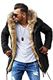 Rello & Reese Winter Parka mit Fell-Imitat Jacke...