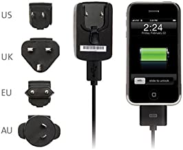 Kensington International Travel Charger for iPod and iPhone 1G/3G (Black)