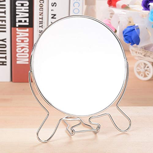Espejo de Maquillaje, Espejo de Doble Cara de rotación Creativa Maquillaje de Acero Inoxidable Espejo Cosmético Decoración Regalo, Tamaño: 8 Pulgadas Movoo