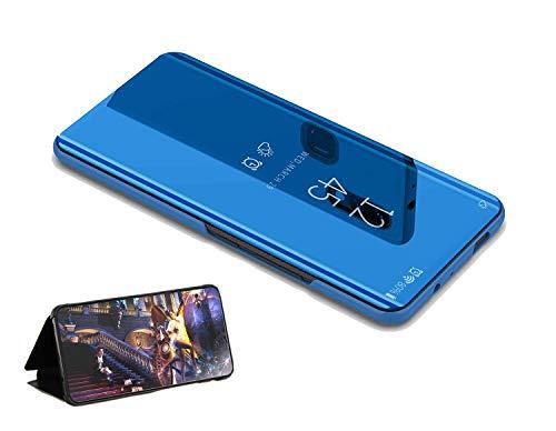 yanzi Hülle für Samsung Galaxy S6 Edge Hülle Case Azul Silikon Schutzhülle Cover Clear View Flip Bumper Panzerglas Displayschutzfolie Handyhülle für Hüllen Samsung Galaxy S6 Edge Cases