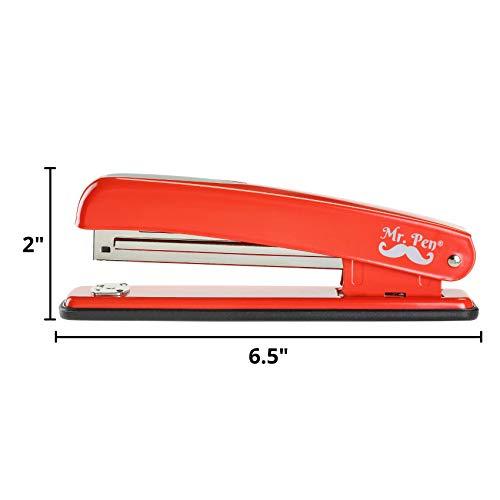 Mr. Pen- Stapler with Staples, Red Stapler, 1000 Staples, Staplers for Desk, Staplers Office, Office Stapler, Desk Stapler, Metal Stapler, Standard Stapler, Stapler and Staple, Stapler Office Supplies Photo #2