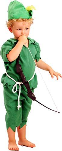 Fiori Paolo- Peter Pan Costume Bambino, Verde, 3-4 anni, 61315.3-4