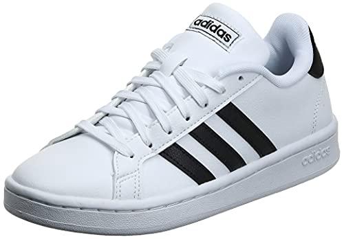 Adidas Grand Court, Damen Hallenschuhe, Weiß (Ftwbla/Negbás/Ftwbla 000), 42 2/3 EU (8.5 UK)
