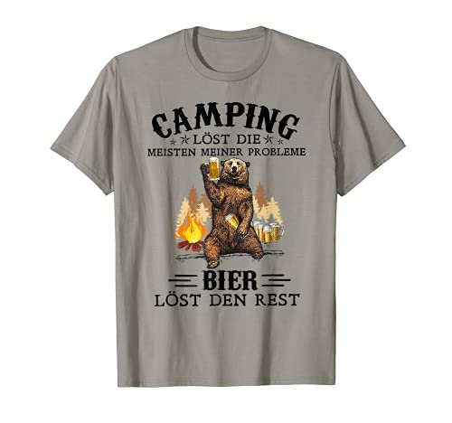 Camping Lost Die Meisten Meiner Probleme Bier Lost Den Rest T-Shirt