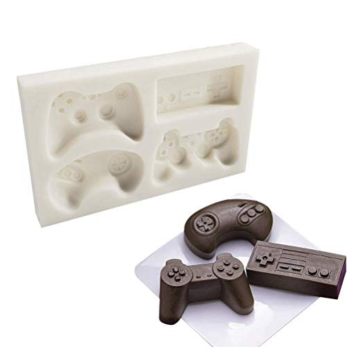 SAKOLLA Game Controller Cake Fondant Mold - Video Gamepad Silicone Mold for Candy, Chocolate, Cupcake Decoration, Resin, Clay