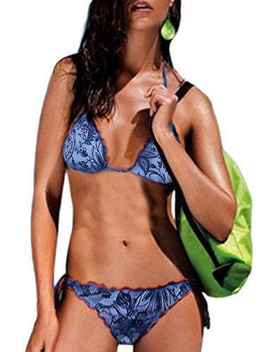 Masquenada Bikini Donna Floreale Blu TG S (42) F2/3