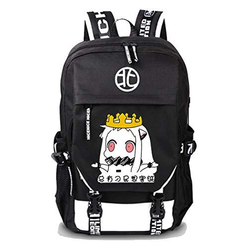 Lydianzishangwu 17 Inch Leather Slim Laptop Backpack for Men Canvas Backpack Men USB Laptop Backpack Color : Black, Size : S