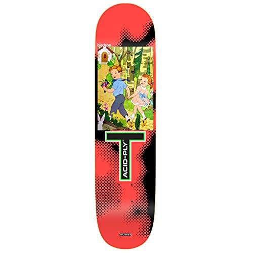 Quasi Skateboard-Brett / Deck, 21,3 cm, Bledsoe Moonwalk Rot
