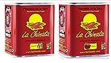 Paprika Ahumado Dulce y CALIENTE 2x70g latas D.O.P. - La Chinata Pimenton- Lo Mejor