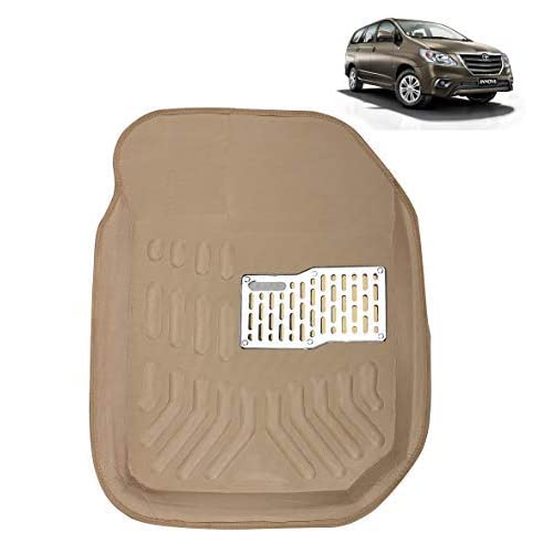 Kingsway kkm3dmbg00078 3D-4D Car Floor Mat for Toyota Innova (Set of 6, Beige)