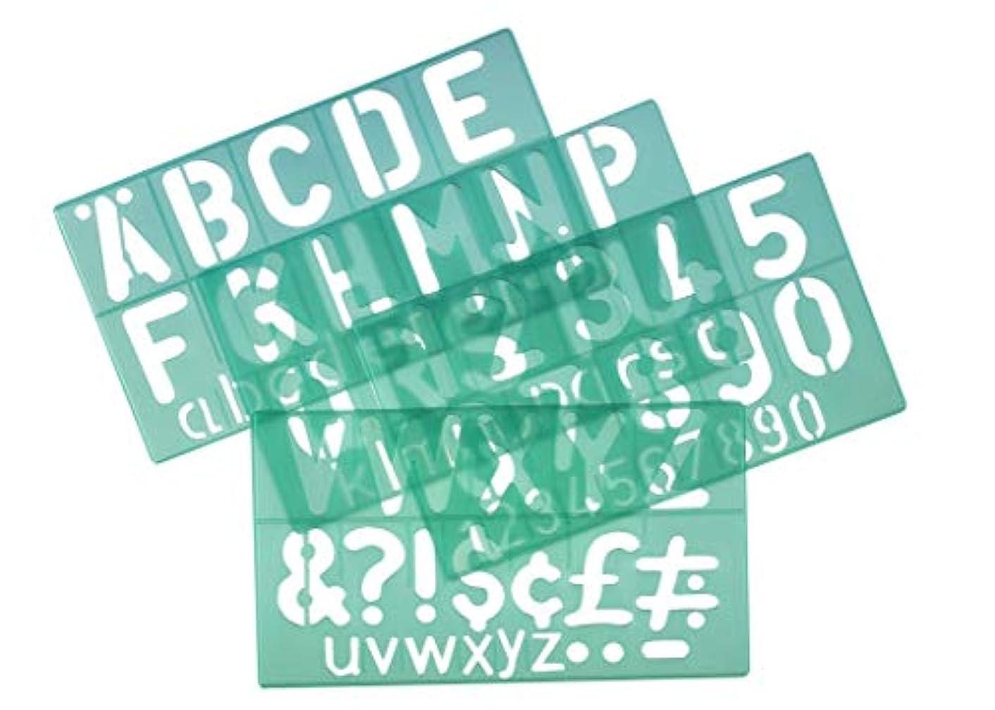 Linex 50mm Standard Stencil - Green (Set of 4)
