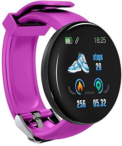 SLM-max Multifunción Relojes Inteligentes Bluetooth, Relojes Inteligentes Redondos de presión Arterial para Hombres, Relojes para Damas, rastreador de Movimiento a Prue