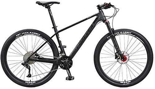 Best Deals! JIASE 36 Speed Mountain Bike, 27.5 Inches Carbon Fiber Frame, Double Suspension Disc Bra...