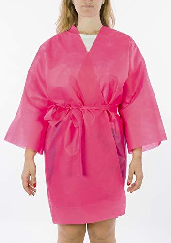 Batas desechables estilo Kimono para peluquerías y salones de belleza