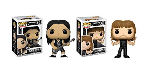 Funko POP! Metallica: Lars Ulrich + Robert Trujillo - Vinyl Figure Set NEW
