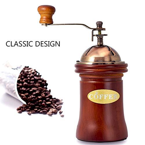 FEZBD Pasado de Moda Manivela Molinillo de café, Molinillo de café Manual, a Prueba de Polvo de la Haba Compartimiento de Gran Capacidad de la máquina de café, para el hogar Oficina y el Recorrido