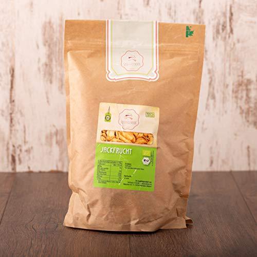 süssundclever.de® Bio Jackfrucht, getrocknet | 1 kg | natürlich süß | 100% naturbelassen | plastikfrei und ökologisch-nachhaltig abgepackt
