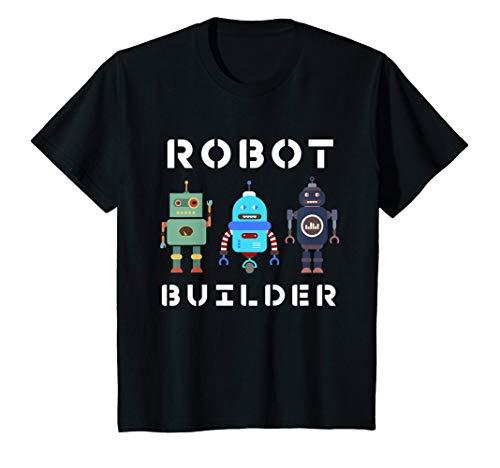 Kids I build Robots Gift All Ages Kids Girls Boys Robot Kit T-Shirt