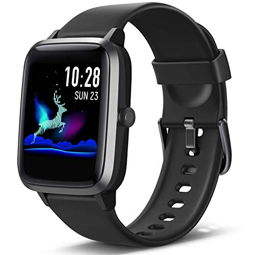 Lintelek Smartwatch Fitness Armband mit 1,3 Zoll Voller Touch Farbdisplay Screen Fitness Uhr IP68 Wasserdicht Home Exercise Armbanduhr Fitness Tracker Stoppuhr für Damen Herren Kinder Smart Watch