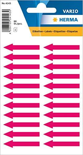 Herma Hinweisetiketten, Pfeile, leuchtrot, 38x7mm, 88 St., 4143