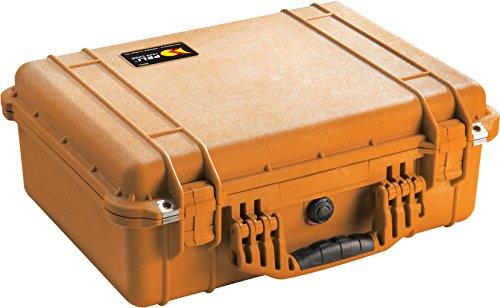 PELI 1520 Maleta fotográfica resistente al impacto para cámaras, objetivos, baterías y otros accesorios, IP67 estanca, 24L de capacidad, fabricada en Alemania, sin espuma, color naranja