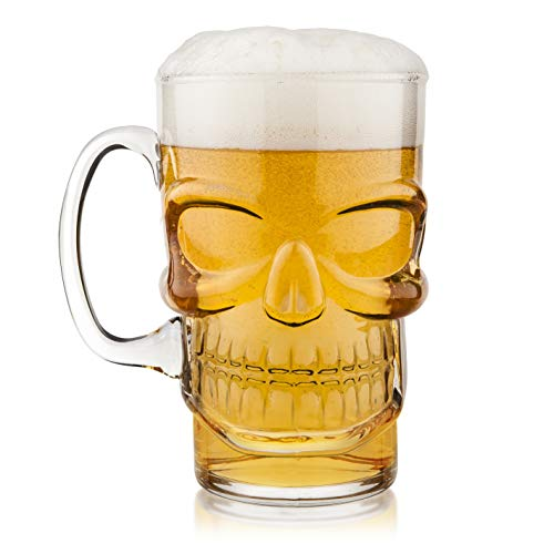 Vaso de cerveza, diseño con calavera en relieve Final Touch -